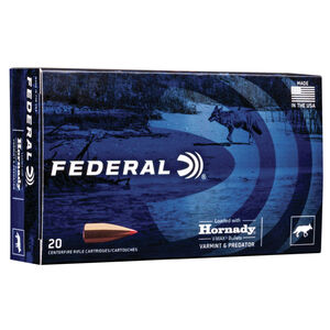 Federal Varmint & Predator 6.5 Creedmoor Ammunition 20 Rounds 95 Grain Hornady V-Max Projectile 3300fps