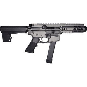 "Brigade Manufacturing BM-9 9mm Luger AR Style Semi Auto Pistol 5.5"" Barrel 33 Rounds UNI-Rail Handguard KAK M2 Pistol Brace Tungsten Gray Finish"