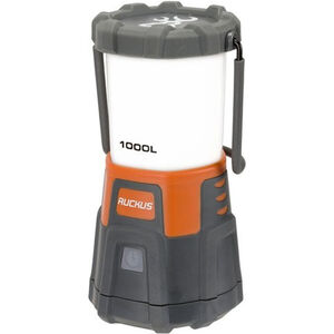 Browning Ruckus USB Rechargeable Lantern 1000 Lumens Max LED Bulbs Internal Li-Polymer Battery or 3 D Cell Batteries Polymer Gray and Orange