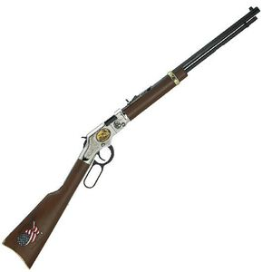 """Henry Coal Miner Tribute Edition II Lever Action Rifle .22 LR 20"""" Barrel 16 Rounds Wood Stock Silver Receiver Blue H004CM2"""