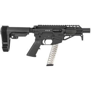 "Freedom Ordnance FX-9 9mm Luger Semi-Auto Pistol 4"" Barrel 31 Rounds Optics Ready Synthetic SBA3 Pistol Brace Black Finish"