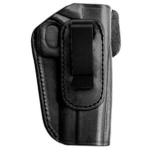 Tagua Gunleather 4-IN-1 Smith & Wesson J-Frame Inside the Waistband Holster Right Hand Draw Leather Black IPH4-710