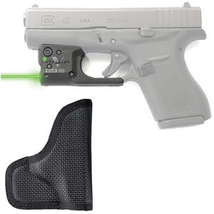 Viridian R5 Reactor Green Laser Sight with DeSantis Nemesis Pocket Holster for GLOCK 42 Ambidextrous Black R5-G42-DN