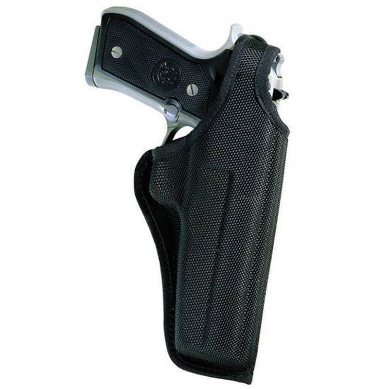 """Bianchi #7001 AccuMold Thumbsnap Holster 3.5"""" Glock 19, H&K USPc, Ruger P95, Sig P226 Right Hand Black"""