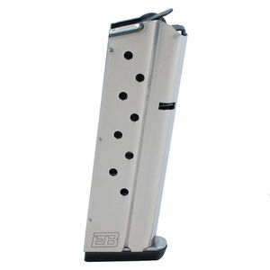 Ed Brown 1911 Government/Commander 9 Round Magazine 9mm Luger Stainless Steel Natural Finish
