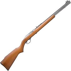 "Marlin Model 60SB .22 LR Semi Auto Rimfire Rifle 19"" Barrel 14 Rounds Walnut Stock Stainless Finish"