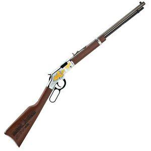 "Henry Golden Boy American Railroad Tribute Lever Action Rifle .22LR 20"" Barrel 16 Rounds Engraved Receiver Laser Etched Walnut Stock Blued H004RR"