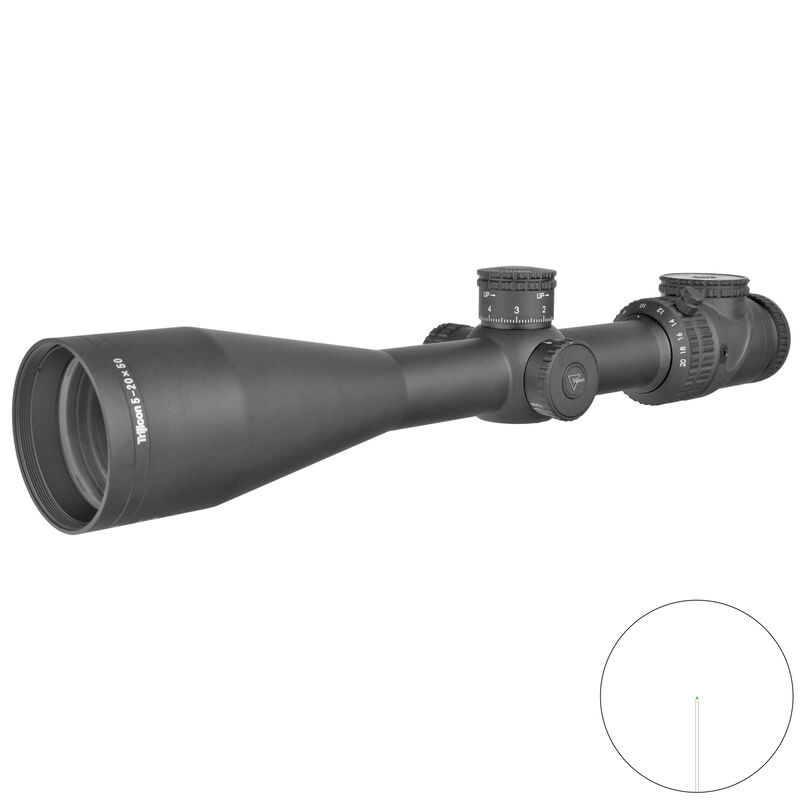 Trijicon AccuPoint 5-20x50 Scope With BAC Green Post Reticle MOA Adjustment 30mm Tube Black