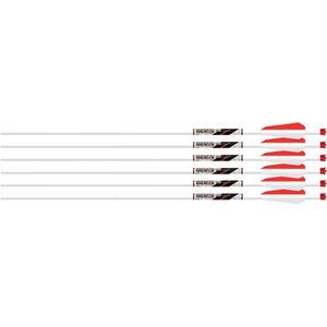 "Beman ICS Whiteout Carbon Fiber Crossbow Bolt 22"" 6 Pack"