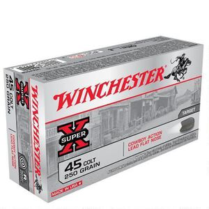 Winchester Super X .45 Colt Ammunition 500 Rounds, LFN, 250 Grain