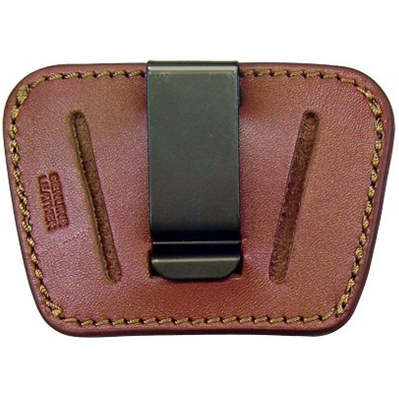 Personal Security Products Homeland Small/Medium Semi Auto Belt Slide Holster Ambidextrous Leather Tan HLO35TAN