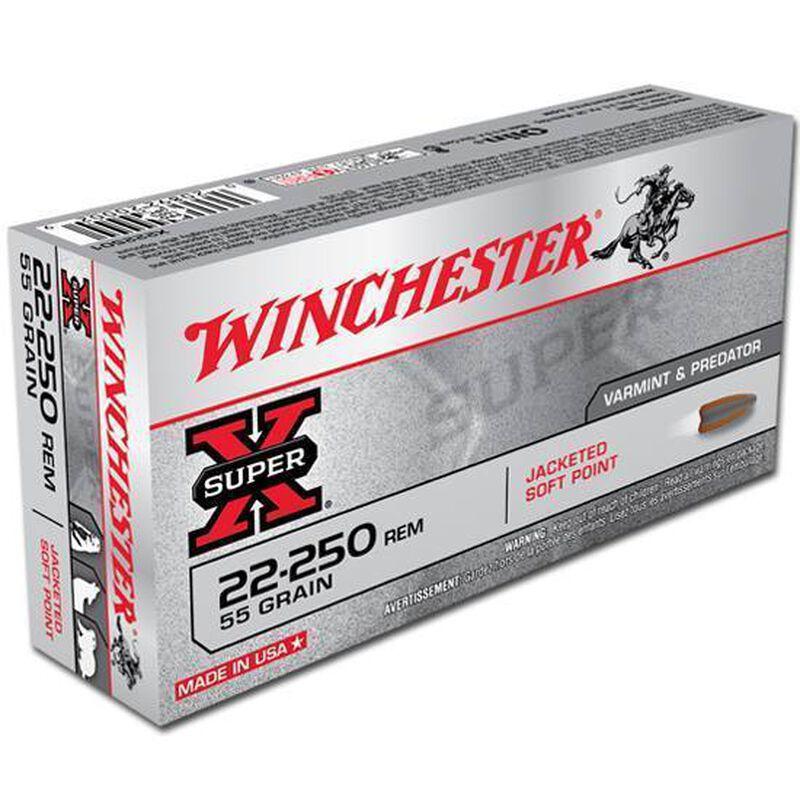 Winchester Super X .22-250 Remington Ammunition 20 Rounds, JSP, 55 Grains