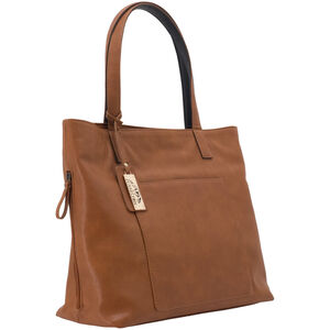 "Cameleon Rhea Handbag with Concealed Carry Gun Compartment 14""x13""x5"" Synthetic Leather Brown"