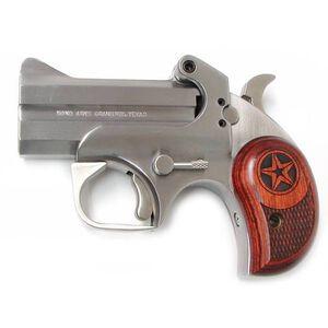 "Bond Arms Texas Defender Derringer Handgun .22 WMR 3"" Barrels 2 Rounds Rosewood Grip Satin Polish Stainless Steel Finish BATD22MAG"