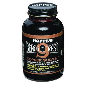 Hoppe's Bench Rest No. 9 Liquid Copper Solvent 4 oz Glass Bottle BR904