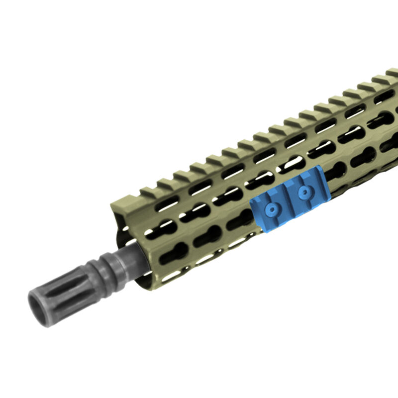 UTG PRO 4-Slot Keymod Picatinny Rail Section-OD Green