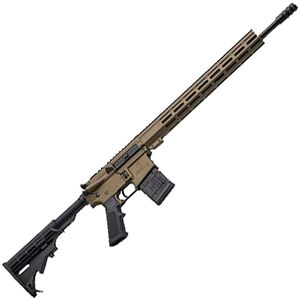 "Great Lakes .450 Bushmaster AR-15 Semi Auto Rifle 18"" Barrel 5 Rounds 15"" Free Float M-LOK Handguard Collapsible Stock Burnt Bronze Cerakote Finish"