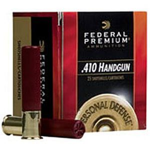 "Federal Personal Defense .410 Bore Ammunition 20 Rounds 2.5"" #4 Shot 850 Feet Per Second"