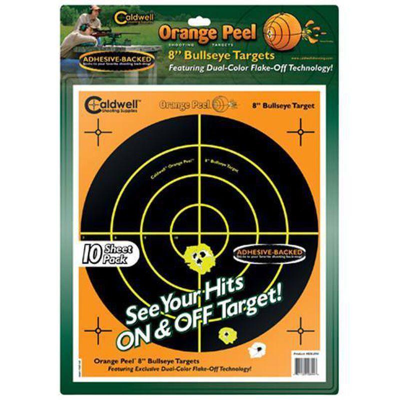 """Caldwell Orange Peel Targets 8"""" Bullseye Target Package of 10 Targets"""