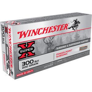 Winchester Super X Subsonic .300 Blackout Ammunition 20 Rounds JHP 200 Grains X300BLKX