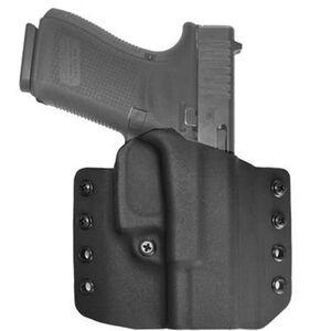 """Comp-Tac Warrior Holster GLOCK 26/27/28/33 Gen 1-5 OWB Belt Slide Right Hand 1.5"""" Belt Loops Kydex Black"""