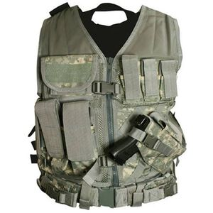 VISM Tactical Vest with Magazine Pouches, Holster and Pistol Belt Digital Camo Finish CTV2916D
