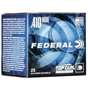 """Federal Top Gun 410 Bore Ammunition 2-1/2"""" Shell #7.5 Lead Shot 1/2 oz 1330 fps"""