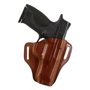 """Bianchi Model 57 Remedy Holster 1.5"""" Belt Ruger LCR Right Hand Leather Plain Tan 25032"""