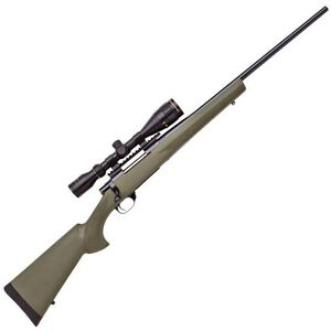 """Howa Hogue GameKing Package Bolt Action Rifle .243 Win 22"""" Barrel 4 Rounds Green Synthetic Stock Blued with  Nikko Stirling 3.5-10x44 AO Scope HGK62108+"""
