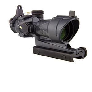Trijicon ACOG 4x32 Riflescope Illuminated Amber Crosshair .223 Ballistic Reticle Aluminum Black with TA51 Mount and Backup Iron Sights Sniper Gray TA01-D-100317