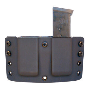 "Comp-Tac Twin Warrior Magazine Pouch IWB/OWB 1911 Single Stack Magazines 1.5"" Belt Size 1 Ambidextrous Kydex Black"
