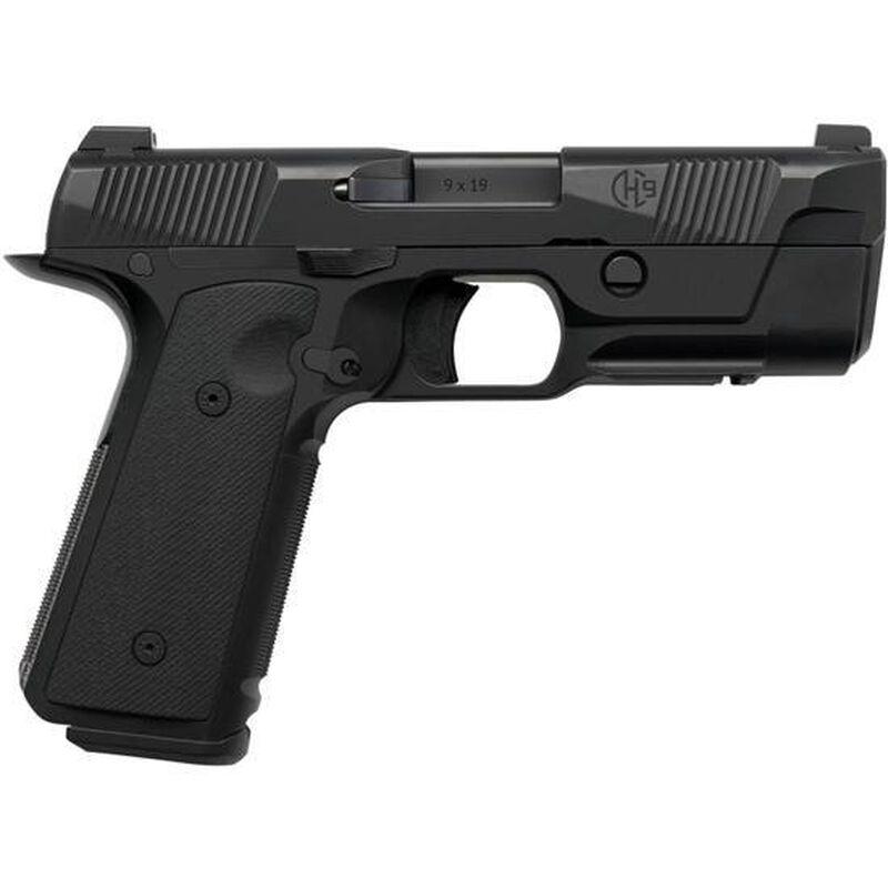 "Hudson H9 9mm Luger Semi Auto Pistol 4.28"" Barrel 15 Rounds Trijicon HD Front Sight G10 VZ Grips Black"
