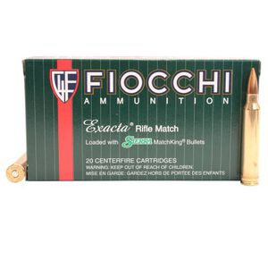 Fiocchi Exacta Match .300 Win Mag Ammunition, 20 Rounds, 190 Grain Sierra MatchKing Hollow Point Boat Tail, 3100 fps