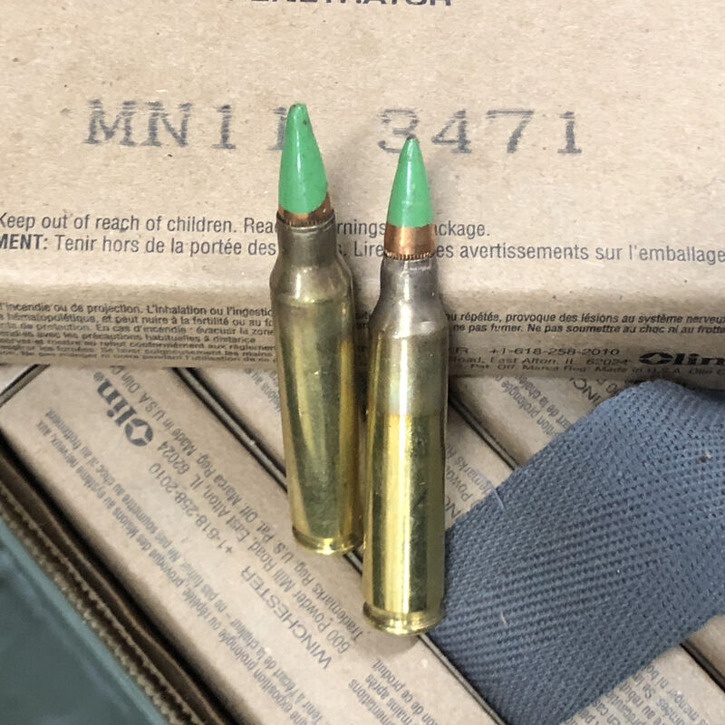 Winchester M855 .5.56 NATO Ammunition 820 Round Ammo Can 62 Grain SS109 Pentrator Bullet