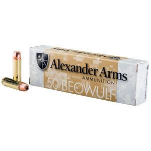 Alexander Arms .50 Beowulf Ammunition 20 Rounds Hornady XTP 350 Grains A-B350XTPBOX