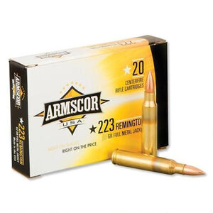 Armscor USA .223 Rem Varmint Ammunition 55 Grain Polymer Tipped 3050 fps