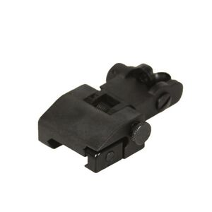JE Machine Flip up Polymer Rear Sight Black