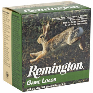 "Remington Game Load 12 Gauge Shotshel 2 3/4"" #6 Lead Shot 1 Ounce 1290 fps 25 Shells"
