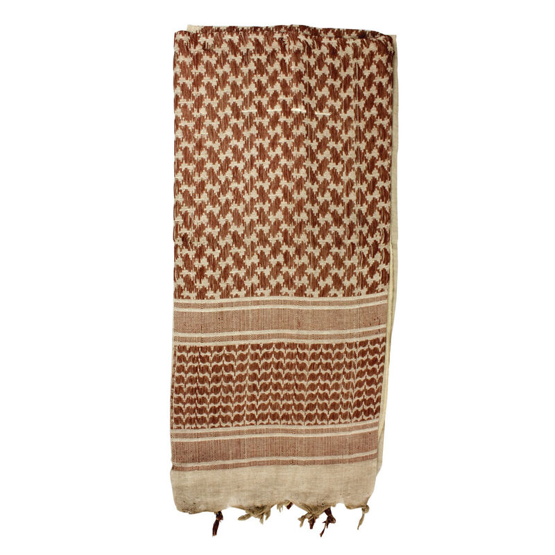 """Red Rock Gear Tactical Shemagh 42""""x42"""" 100% Cotton Tan and Brown"""