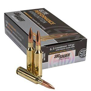 Sig Sauer Elite Match 6.5 Creedmoor Ammunition 20 Rounds OTM 140 Grains E65CM1-20
