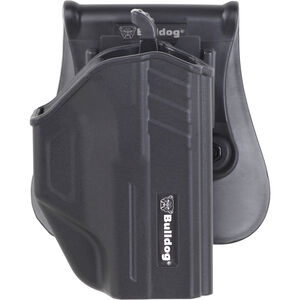 Bulldog Cases Thumb Release Polymer Holster With Paddle And Mag Holder RH Fits Glock 19, 23 & 32 Gen 1, 2, 3, 4