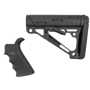 Hogue AR-15 Mil-Spec Collapsible Buttstock With Beavertail Pistol Grip Polymer Black 15056