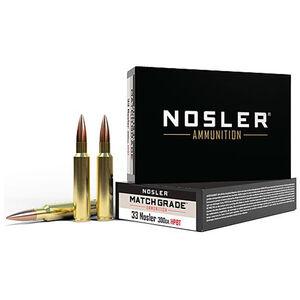 Nosler Match Grade 33 Nosler Ammunition 300 Grain HPBT Projectile 2550 fps