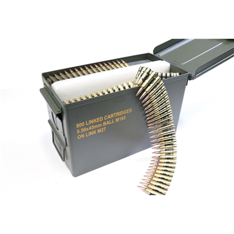Magtech .223/5.56 NATO 62-Grain Linked Ammunition 800 Rounds in Ammo Can