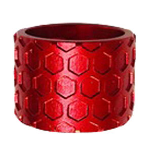 Backup Tactical 1/2x28 Thread Protector 9mm Luger Pistol Aluminum Honeycomb Red