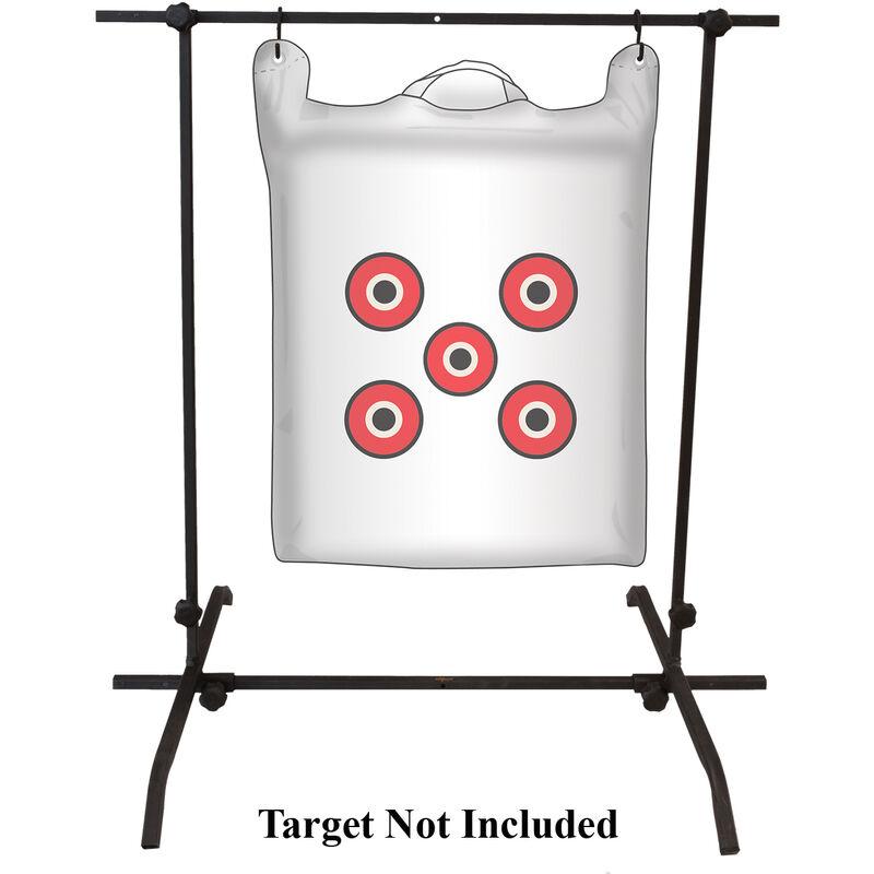 Muddy Outdoors Archery Target Holder Dual Purpose Bag/3D Adjustable Base Steel Black