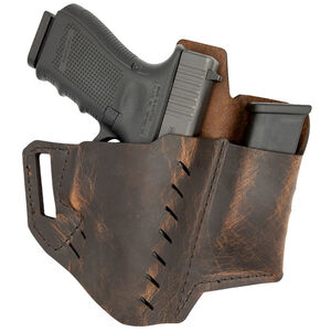 VersaCarry Commander OWB Holster With Mag Carrier Size 1 Right Hand Leather Brown 62101