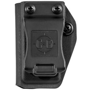 C&G Holsters Universal IWB/OWB Magazine Pouch for GLOCK 10/45 Double Stacked Magazines Kydex Black