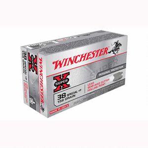 Winchester Super X .38 Special +P Ammunition 500 Rounds, LH PSWC, 158 Grains