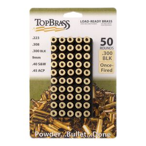 Top Brass .300 Blackout Reconditioned Brass 50 Count with Tray